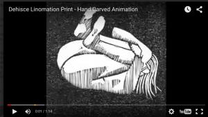 Dehisce Linomation Print