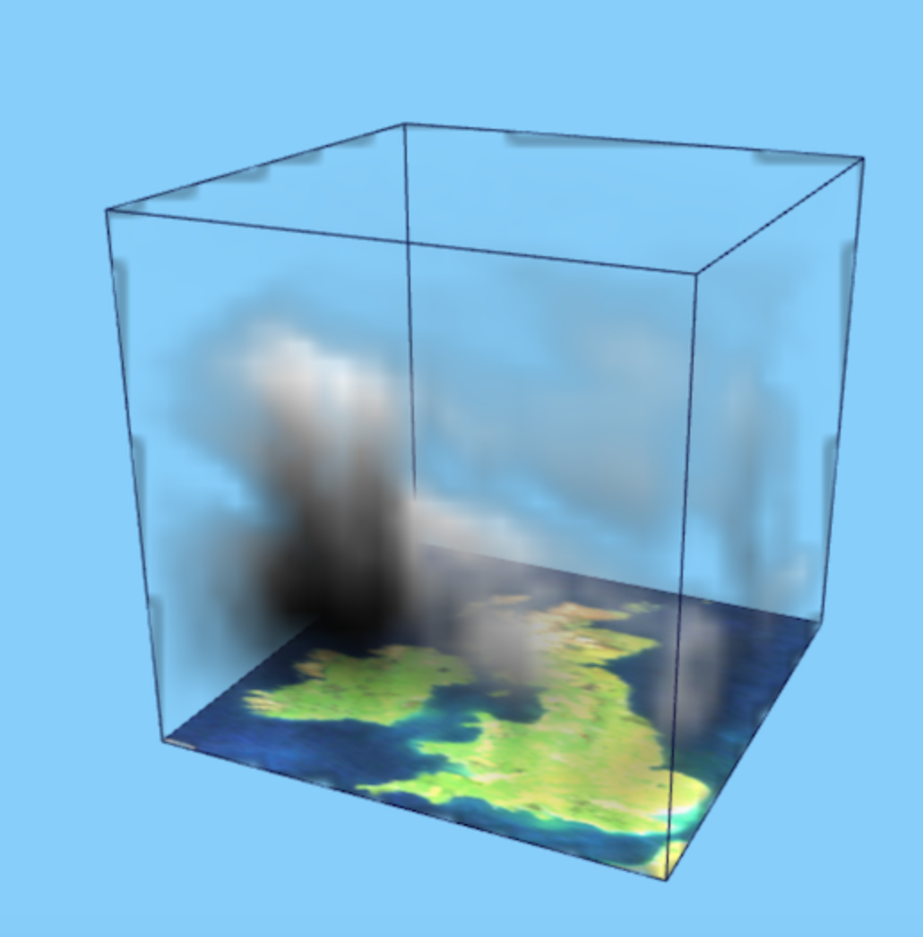 3D data visualisation of weather systems